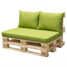 Doppler blazine za sedeže iz palet, zelena