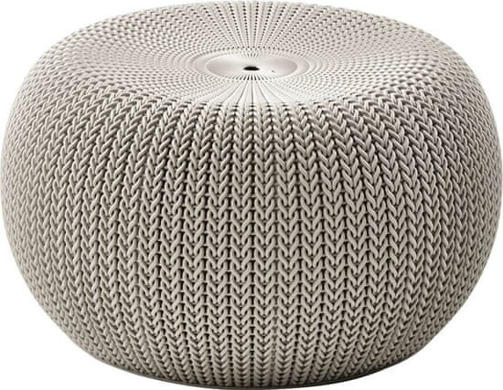 KETER taboret KNIT SINGLE SEAT (cozies) - piaskowy