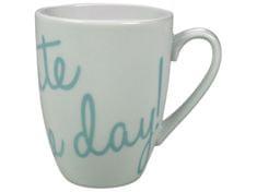 GUSTA Hrnek na kávu světle modrý Celebrate the day!