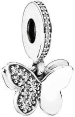 Pandora Romantický přívěsek Motýl 791844CZ stříbro 925/1000