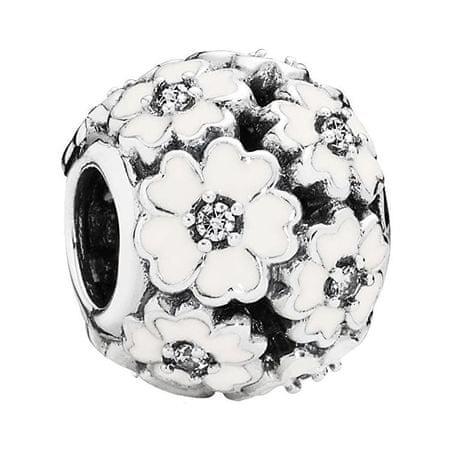Pandora Ezüst gyöngy fehér virágokkal 791488HU12 ezüst 925/1000