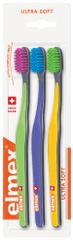 Elmex Zubná kefka Ultra Soft 3-pack