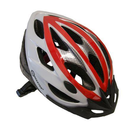 Master Cyklo přilba Force - L - červeno-bílá