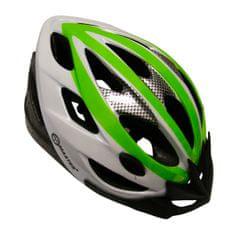 Master Cyklo přilba Force - zeleno-bílá