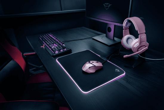Trust GXT 101P Gaming miška, roza