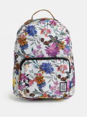 The Pack Society bílý dámský vzorovaný batoh 18 l