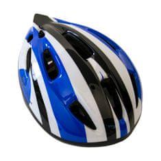 Master Cyklo přilba s blikačkou Flash - modrá