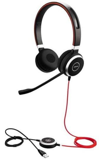 Jabra Evolve 40, stereo, USB + 3,5 mm jack, NC, MS (6399-823-109)