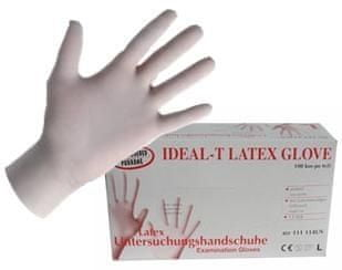 Rokavice latex, 100/1, velikost XL