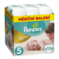 Pampers dječje pelene Premium Care 5 (Junior), 136 komada