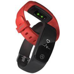 LAMAX BFit PRO - vízálló fitness karkötő - fekete + piros szíj