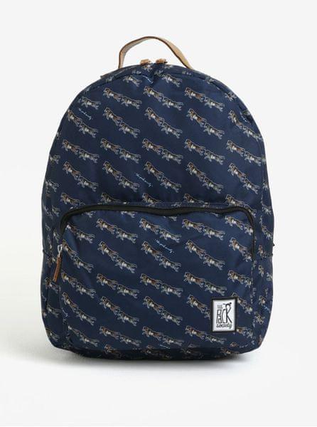 09299178810 The Pack Society tmavě modrý dámský batoh s barevným potiskem 18 l