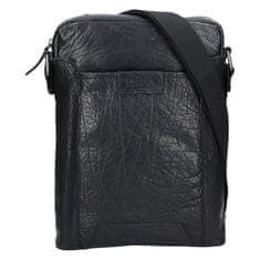 Lagen Kožená crossbody taška 24425 Black