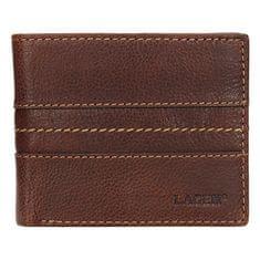Lagen Pánská černá kožená peněženka 3984 Tan