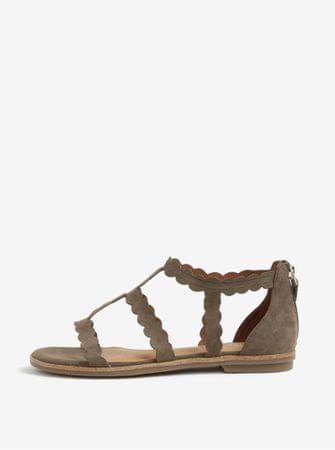 s.Oliver khaki semišové sandály 37
