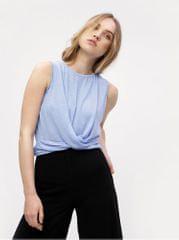 Vero Moda modrý krátký top s uzlem Elia