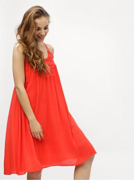 Vero Moda červené šaty Fiona L 4c45337f66