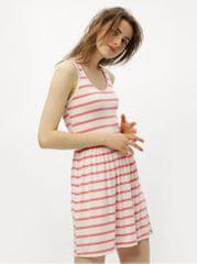 ONLY bílo-růžové pruhované šaty s průstřihem na zádech Rina