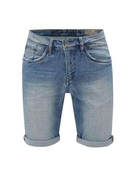 996769d6c3e Garcia Jeans modré pánské džínové kraťasy s vyšisovaným efektem XS