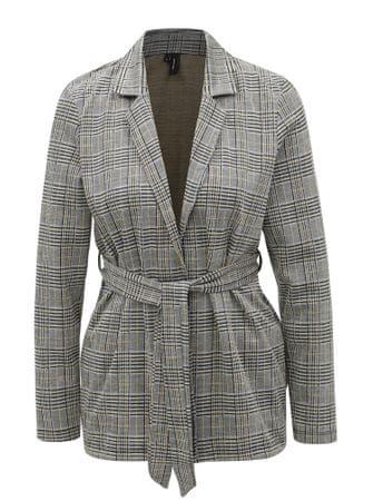 Vero Moda šedo-černé vzorované sako s páskem Blair M