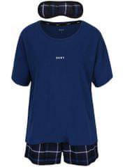 DKNY tmavě modré dvoudílné pyžamo a maska na spaní