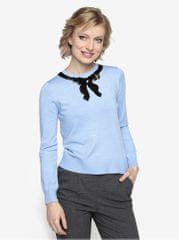 Oasis modrý lehký svetr s mašlí z flitrů Jackie 6b14d89b16