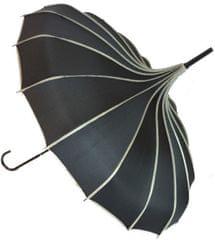 Blooming Brollies Dámský deštník Ribbed Pagoda Black BCSRPBL