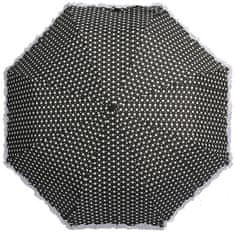 Blooming Brollies Dámsky dáždnik Polka with Frills and Sparkles Black BCFPOL BL