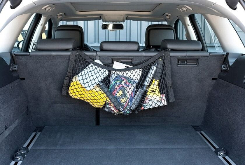 Walser Síť na uskladnění věcí závěsná na zadní sedadla 30 × 65 cm