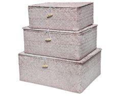 5bce3bf2c Kaemingk Set 3 ks úložných boxov, sv. ružová