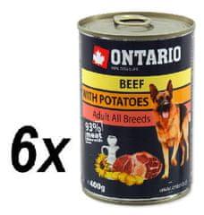 Ontario mokra karma dla psa Wołowina, ziemniaki i olej słonecznikowy - 6 x 400g