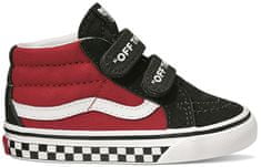 c8555297055 Vans Td Sk8-Mid Reissue V Logo Pop Black Red