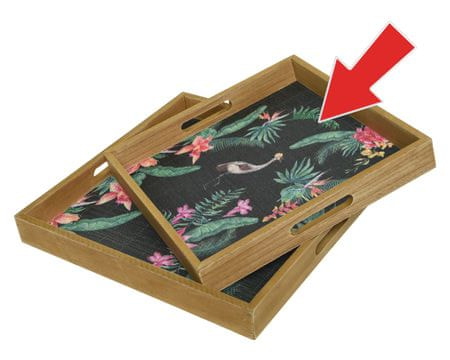 """Kaemingk Pladenj """"bambus"""", 34 x 34 x 4 cm"""