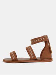 Roxy hnědé dámské sandály s prošívaným vzorem Natalie