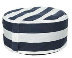 Kaemingk Kulatý sedací vak, modro/bílý