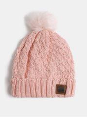 Roxy světle růžová dámská čepice s bambulí z umělého kožíšku Blizzard
