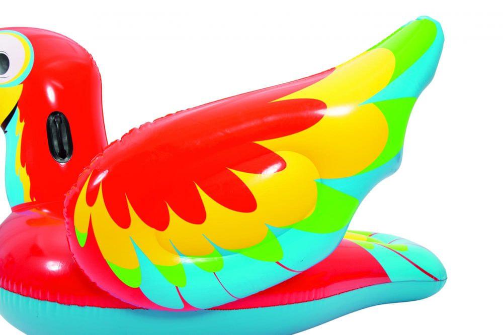 Bestway Nafukovací papoušek Peppy s držadly, 203cmx132 cm