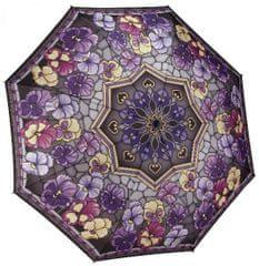 Blooming Brollies Dámský deštník Stained Glass Pansies GFFSGP
