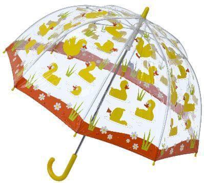 Blooming Brollies Dětský průhledný holový deštník Buggz Kids Stuff Duck SBUDU