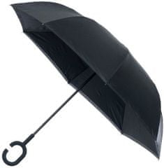 Blooming Brollies Dámsky dáždnik Inside out Plain Black Umbrella EDIOBB