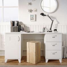 FARELA Pracovní stůl se skříňkou a zásuvkami Industry, 140 cm