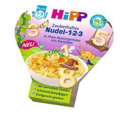 HiPP BIO Těstoviny 123 s kukuřicí, zeleninou a mrkví, 250g exp. únor 2019