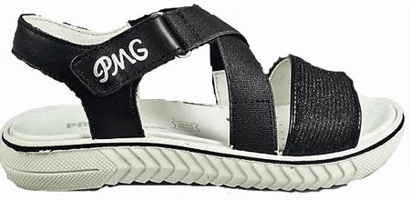 Primigi dekliški sandali s pasovi, 31, črni