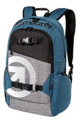 MEATFLY Batoh BASEJUMPER 4 BACKPACK N - HT. PETROL, HT. GREY