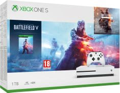 Microsoft konsola do gier Xbox One S 1TB + Battlefield V Deluxe Edition
