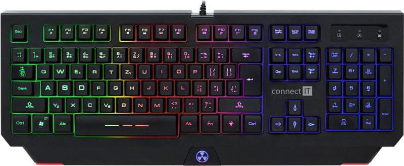 Connect IT Battle RNBW, černá, CZ (CI-1129)