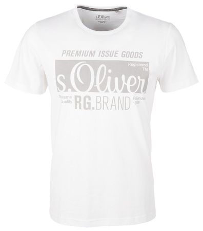 s.Oliver férfi póló XXL fehér  a0d399b7db
