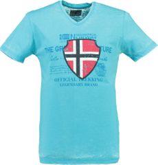 Lacné pánske značkové tričká svetlo modrá  e134246b5ef