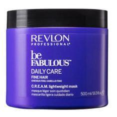 Revlon Professional Be Fabulous Daily Care hidratáló hajmaszk vékonyszálú hajra(Cream Lightweight Mask)