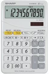 Sharp kalkulator EL332BWH, namizni, 10-mestni, bel